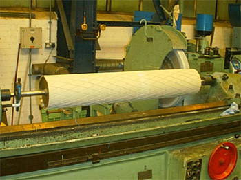 Images of manufactured and repaired rollers at fife Engineering